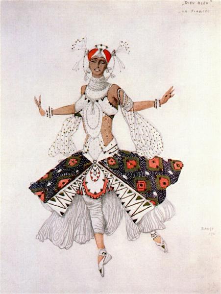 Le dieu bleu the bride, 1912 - Leon Bakst