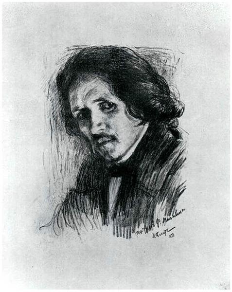 PortraitofRussianpainterFilippAndreevichMaljawin - Leon Bakst