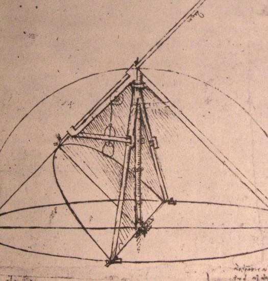 Design for a parabolic compass, 1500