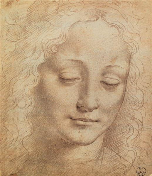 Female Head, 1490 - Léonard de Vinci