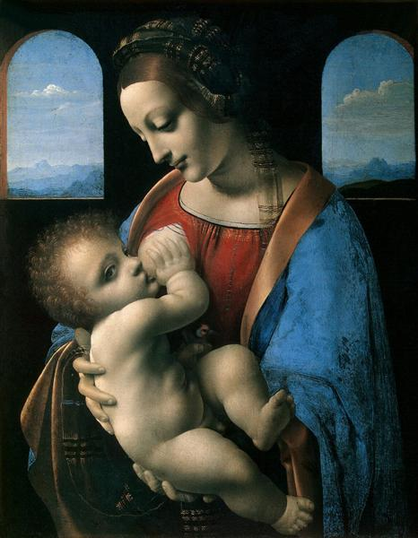Madonna Litta (Madonna and the Child), c.1490 - Leonardo da Vinci