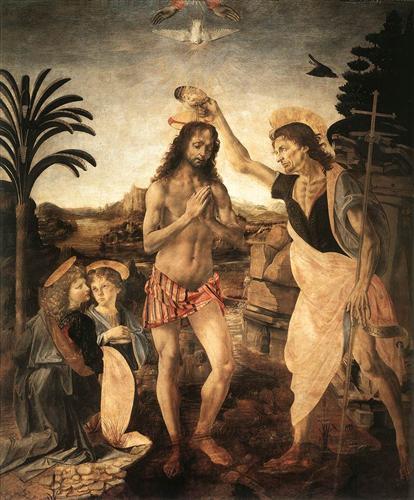 The Baptism of Christ - Leonardo da Vinci