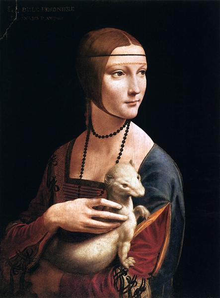 The Lady with an Ermine (Cecilia Gallerani), 1496 - Leonardo da Vinci
