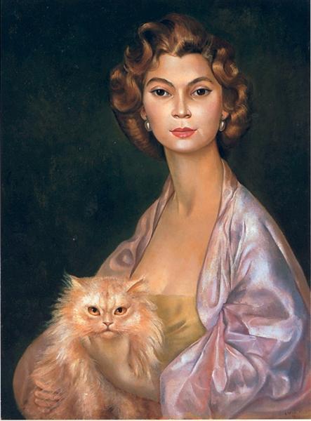 Portrait de la Princesse Nawal Toussoun, 1952 - Leonor Fini