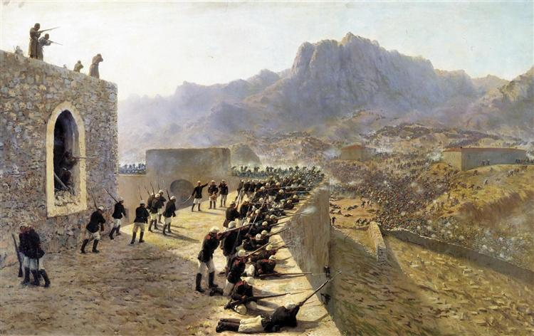 Defense of Bayazet (Doğubeyazıt), 1891 - Lev Lagorio