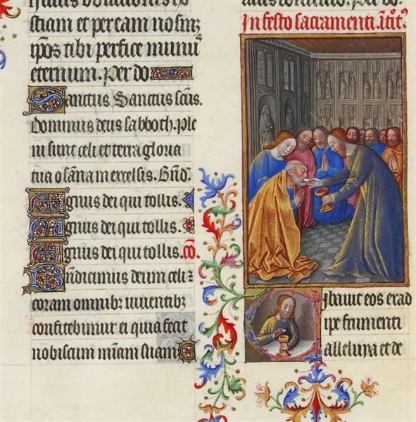 The Communion of the Apostles - Limbourg brothers