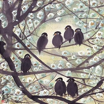 Birds on Branches - Lin Fengmian