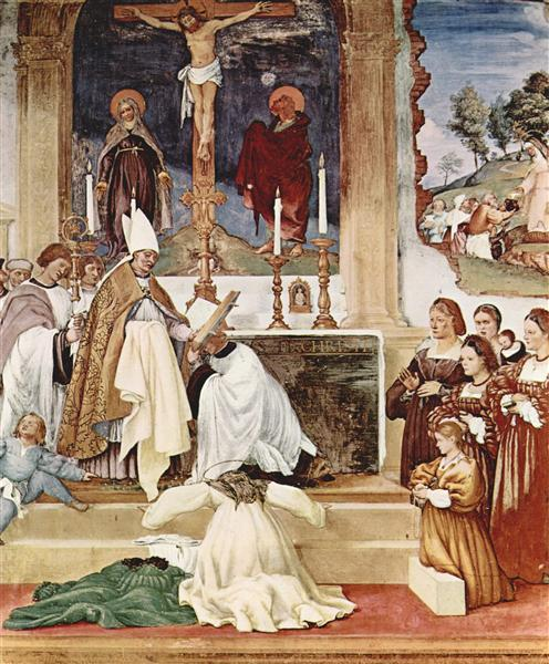 The Story of St. Barbara and St. Alvise, 1524 - Лоренцо Лотто