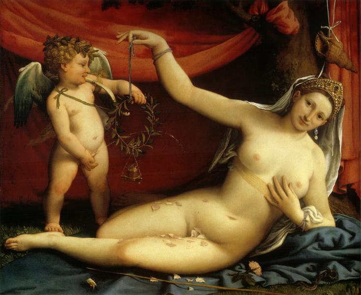 Venus and Cupid, c.1525 - Lorenzo Lotto