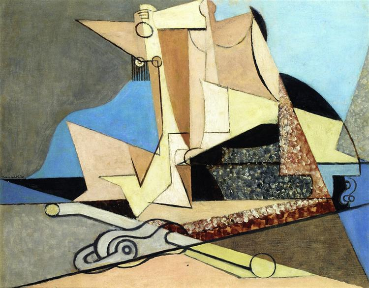 Figures and Marine Anchor, 1930 - Louis Marcoussis
