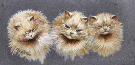THREE CATS - Louis Wain