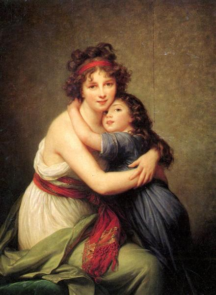 Madame Vigee Lebrun and her daughter, Jeanne Lucie Louise, 1789 - Louise Elisabeth Vigee Le Brun