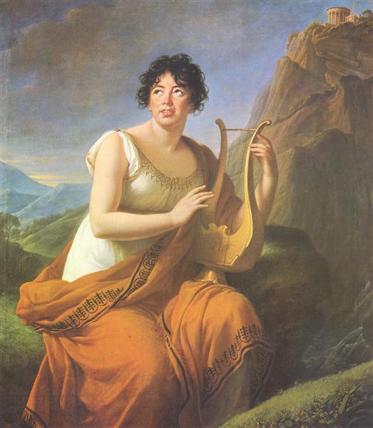 Portrait of Madame de Stael as Corinne, 1808 - Louise Elisabeth Vigee Le Brun