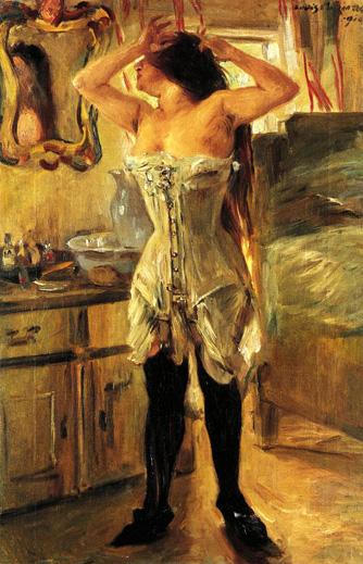 In a Corset, 1910 - Lovis Corinth