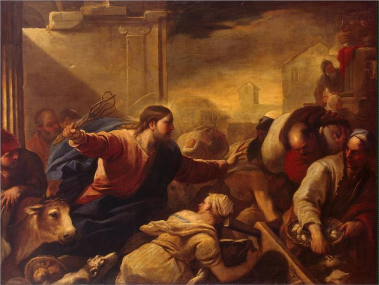 Expulsion of the Moneychangers from the Temple, 1675 - Luca Giordano
