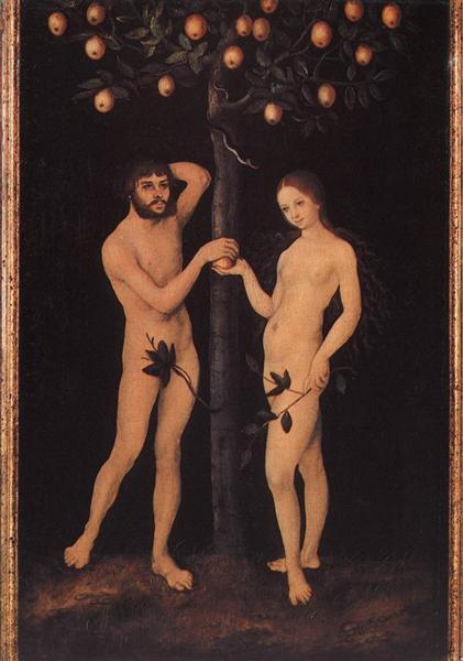 Adam and Eve - Cranach the Elder Lucas