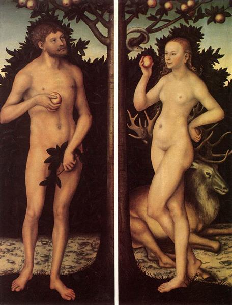 Adam and Eve, 1525 - Lucas Cranach, o Velho