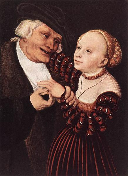 Old Man and Young Woman, c.1530 - c.1540 - Lucas Cranach der Ältere