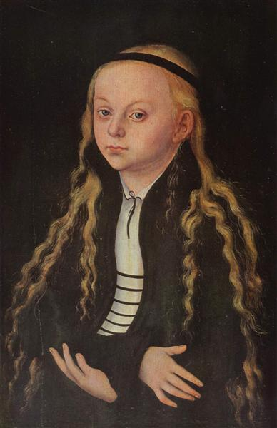 Portrait of a Young Girl (Magdalena Luther), c.1520 - Lucas Cranach der Ältere