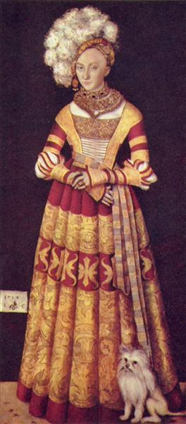 Portrait of duchess Katharina von Mecklenburg, 1514 - Lucas Cranach der Ältere