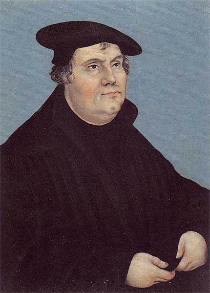Portrait of Martin Luther, 1543 - Lucas Cranach der Ältere