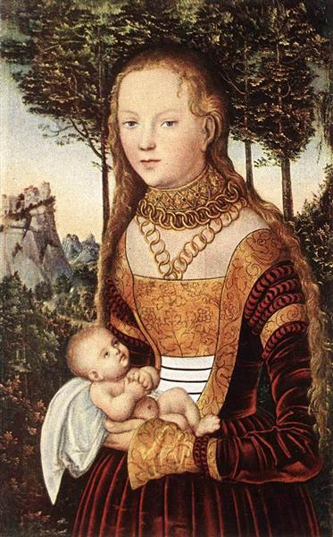 Young mother with child, c.1520 - c.1529 - Lucas Cranach der Ältere