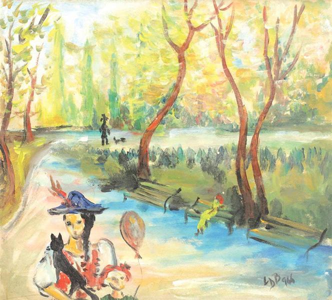 În parc, 1966 - Lucia Demetriade Balacescu