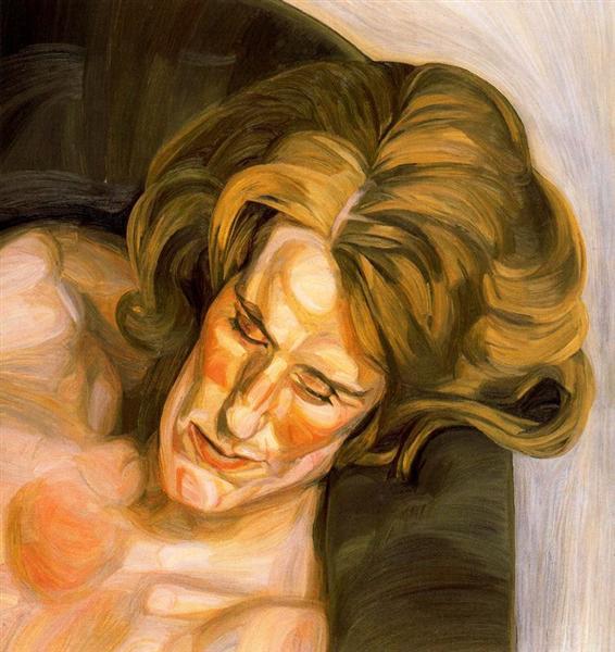Head on a Green Sofa, 1960 - 1961 - Lucian Freud