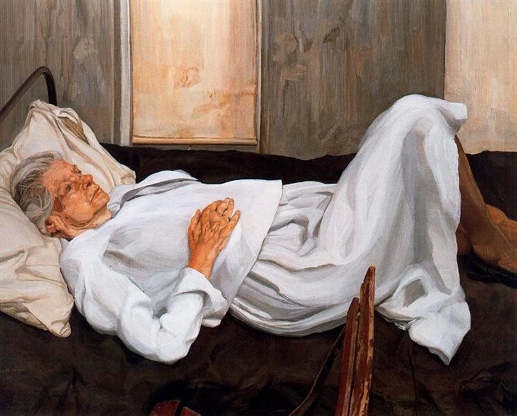 Мать художника, 1982 - 1984 - Люсьен Фрейд