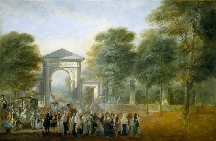 The Botanical Garden of Paseo del Prado, 1790 - Luis Paret y Alcazar