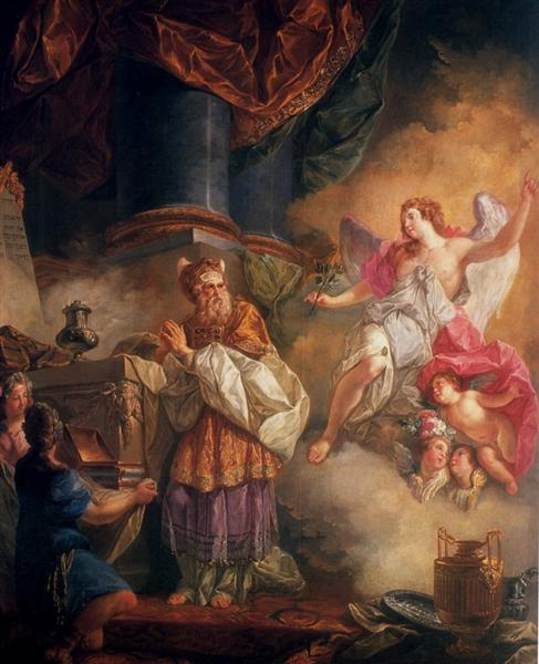 The Visit of the Angel to Zechariah - Luis Paret y Alcázar