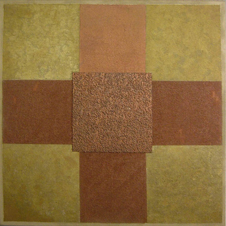 Painting - Gold and Brown, 1987 - Lygia Pape
