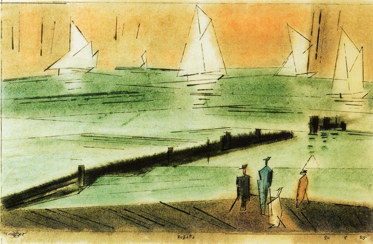 Regatta, 1925 - Lyonel Feininger
