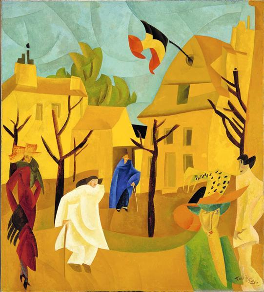 Yellow Street II, 1918 - Lyonel Feininger