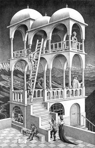 Belvedere, 1958 - M.C. Escher