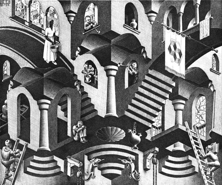 Convex and Concave, 1955 - M.C. Escher