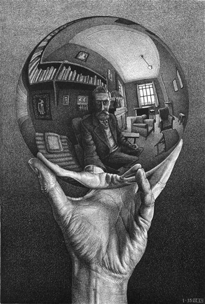 Hand with Reflecting Sphere, 1935 - M.C. Escher