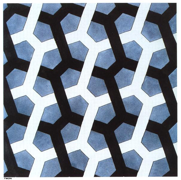 Interlaced Hexagon - M. C. Escher