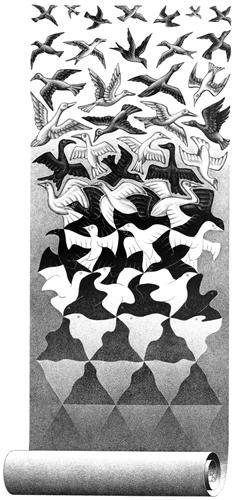 Liberation - M.C. Escher