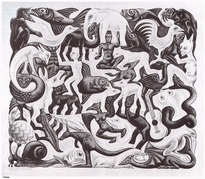 Mosaic II, 1957 - M.C. Escher