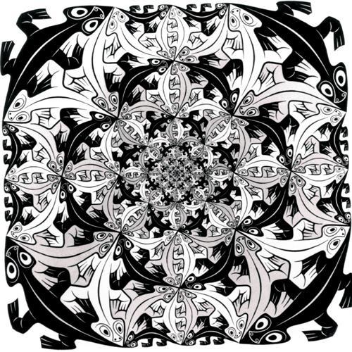 Smaller And Smaller - M.C. Escher