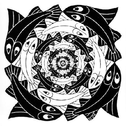 Circular Fish, 1956 - M.C. Escher