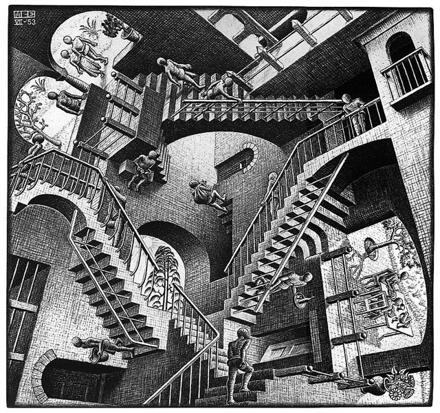 Relativity lattice, 1953 - M.C. Escher