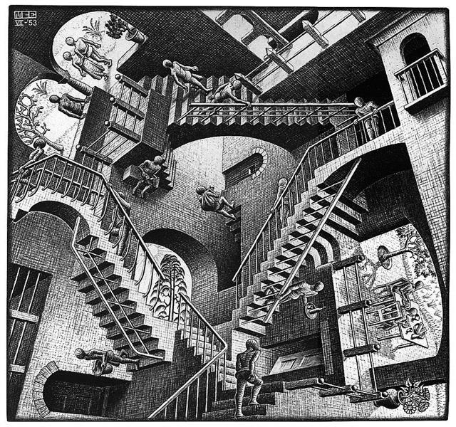 Relativity lattice - M.C. Escher