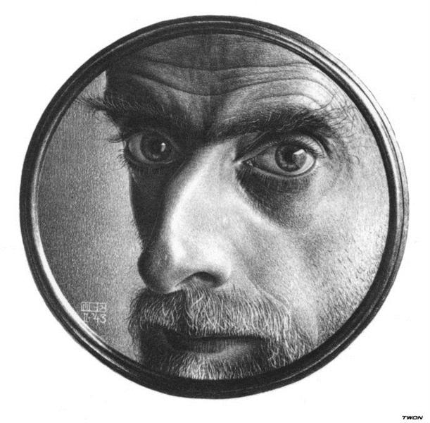 Self-Portrait II, 1943 - M.C. Escher