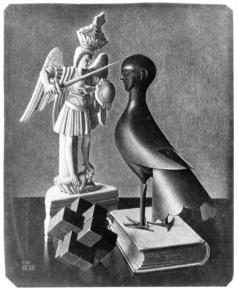 M.C. Escher, Still life, 1943
