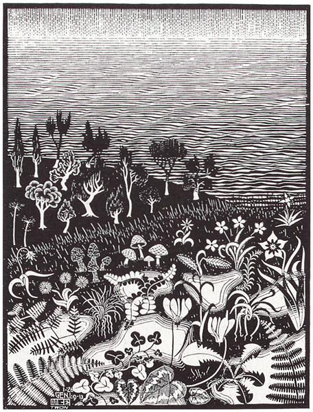The 3rd Day of the Creation, 1926 - M.C. Escher
