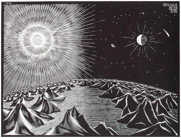 The 4th Day of the Creation, 1926 - M.C. Escher