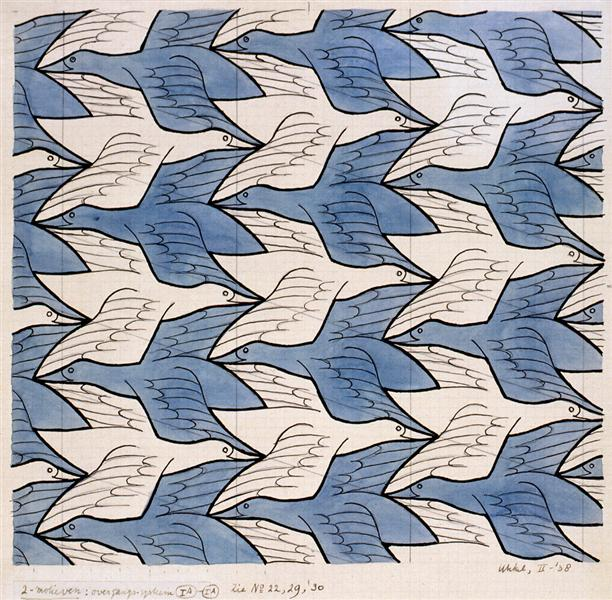 Two Birds, 1938 - M.C. Escher