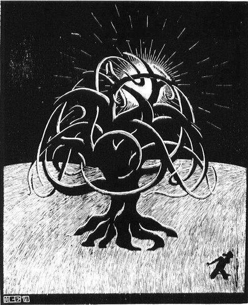 Twon Tree - M.C. Escher